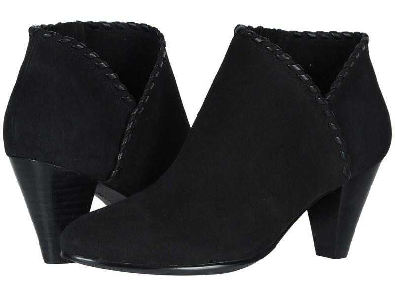 ダイビッドテイト レディース ブーツ・レインブーツ シューズ Loft Black Nubuck Leather Lacing