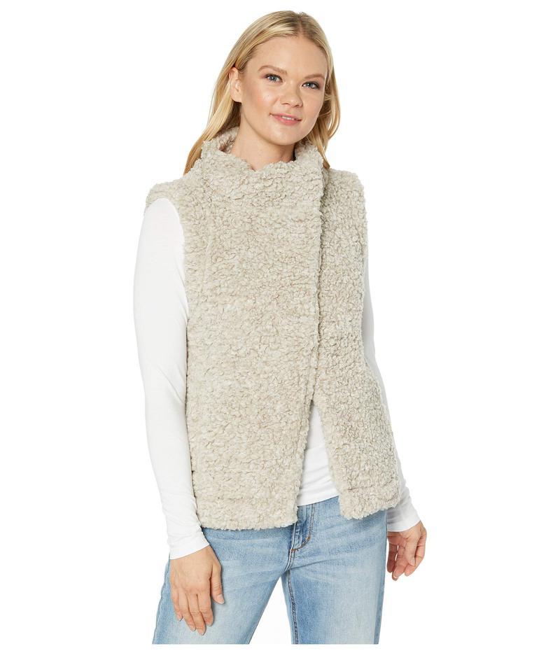 デイランバイトゥルーグリット レディース コート アウター Faux-Shearling Pile Cozy Vest with Soft Knit Lining Putty