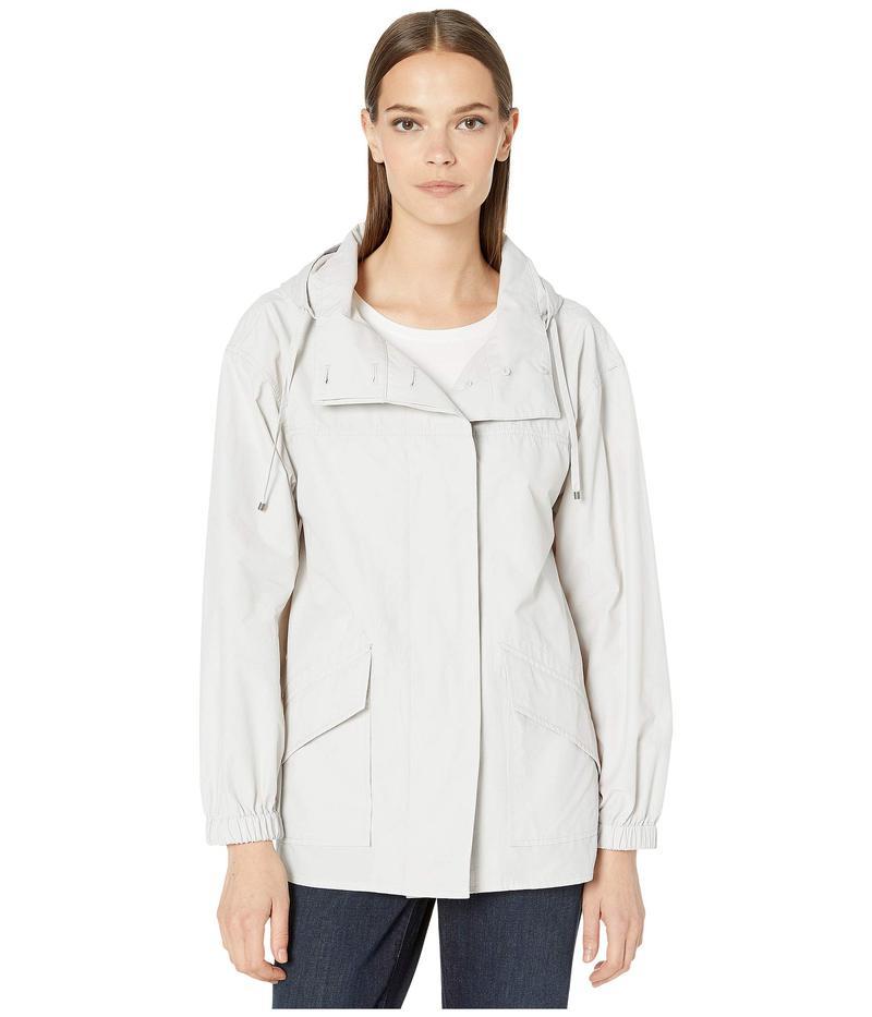 エイリーンフィッシャー レディース コート アウター Light Organic Cotton Nylon Hooded Coat Pearl