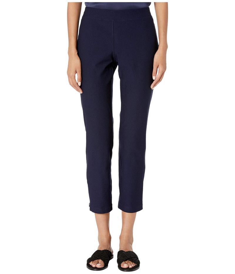 エイリーンフィッシャー レディース カジュアルパンツ ボトムス Washable Stretch Crepe Slim Ankle Pants w/ Side Zipper Midnight