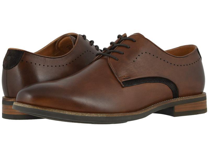 フローシャイム メンズ オックスフォード シューズ Uptown Plain Toe Oxford Cognac Leather/Suede