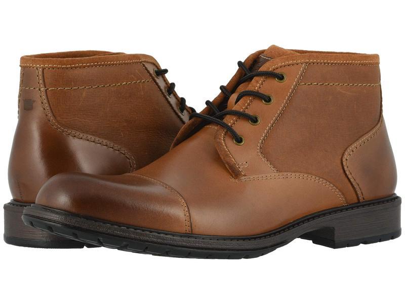 フローシャイム メンズ ブーツ・レインブーツ シューズ Vandall Cap Toe Lace-Up Boot Tan Leather