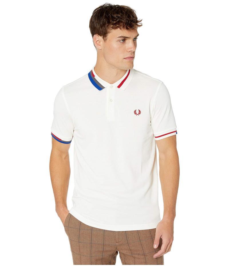 フレッドペリー メンズ シャツ トップス Abstract Collar Pique Shirt Snow White