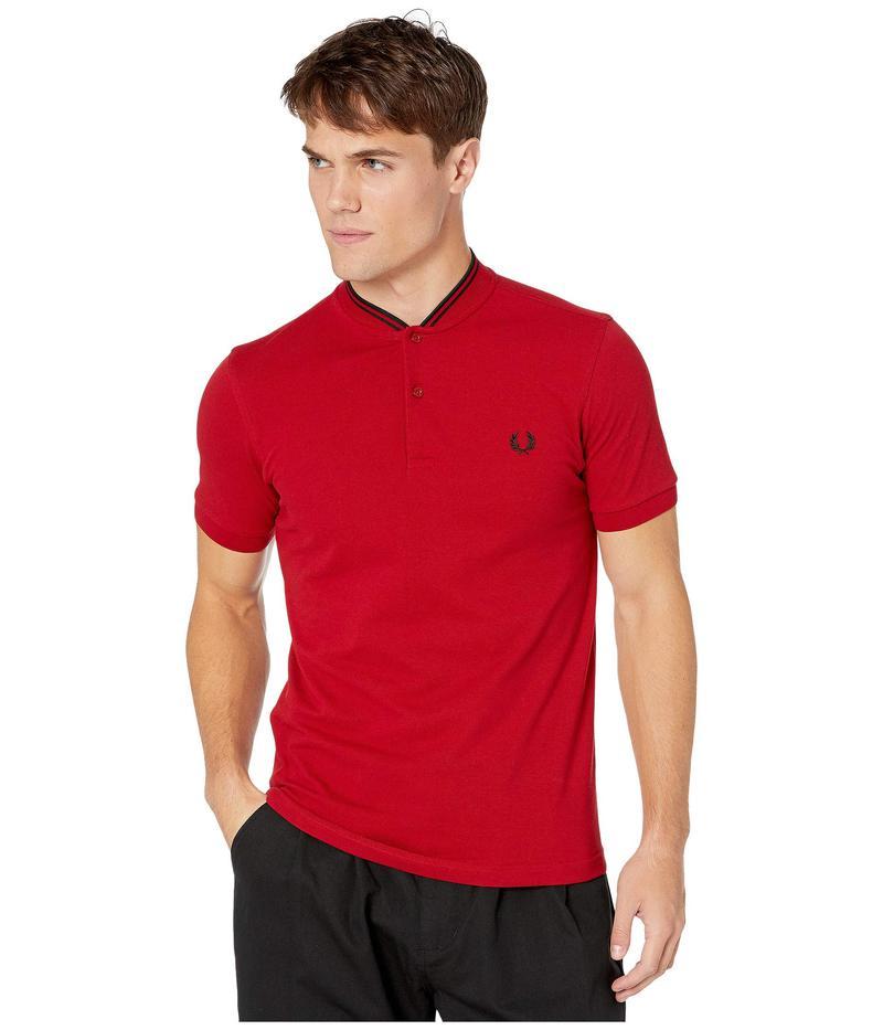 フレッドペリー メンズ シャツ トップス Bomber Collar Pique Shirt Siren