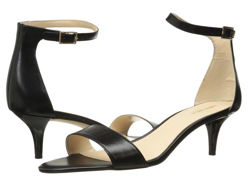 ナインウェスト レディース サンダル シューズ Leisa Heel Sandal Black Leather