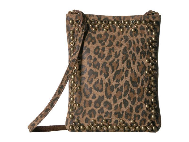レザロック レディース ハンドバッグ バッグ Yvette Cell Pouch Leopard Tan