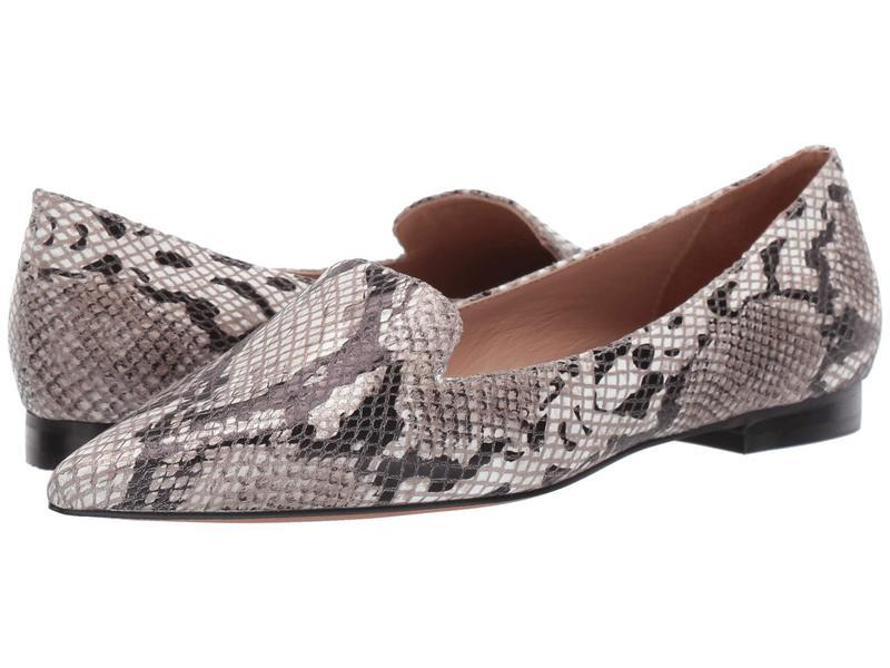 リネアパウロ レディース サンダル シューズ Portia White/Black/Taupe Python Print Leather