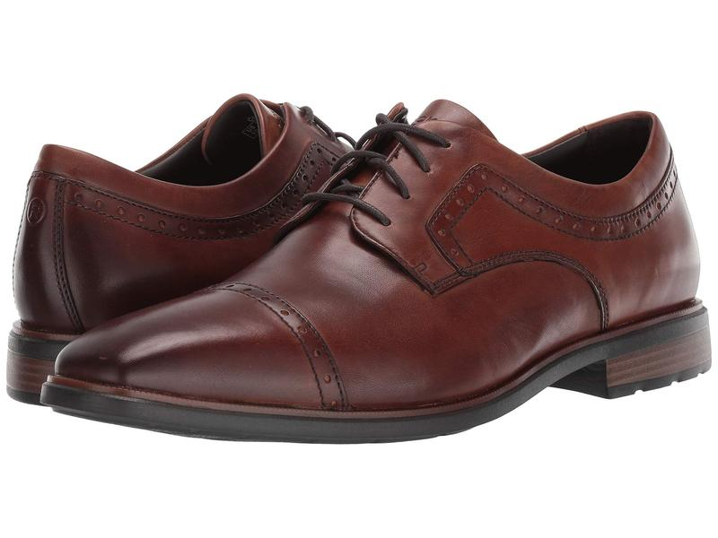ロックポート メンズ オックスフォード シューズ DresSports Business 2 Cap Toe Cognac Antique