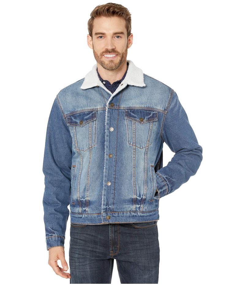 ローパー メンズ コート アウター Denim Jacket with Sherpa Lining Blue