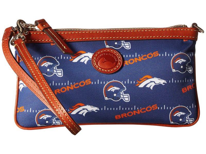 ドーネイアンドバーク レディース ハンドバッグ バッグ NFL Nylon Large Slim Wristlet Navy/Tan/Broncos