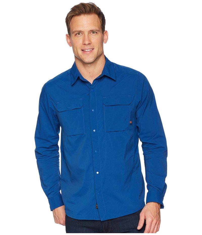 マウンテンハードウェア メンズ シャツ トップス Canyon Pro Long Sleeve Top Nightfall Blue