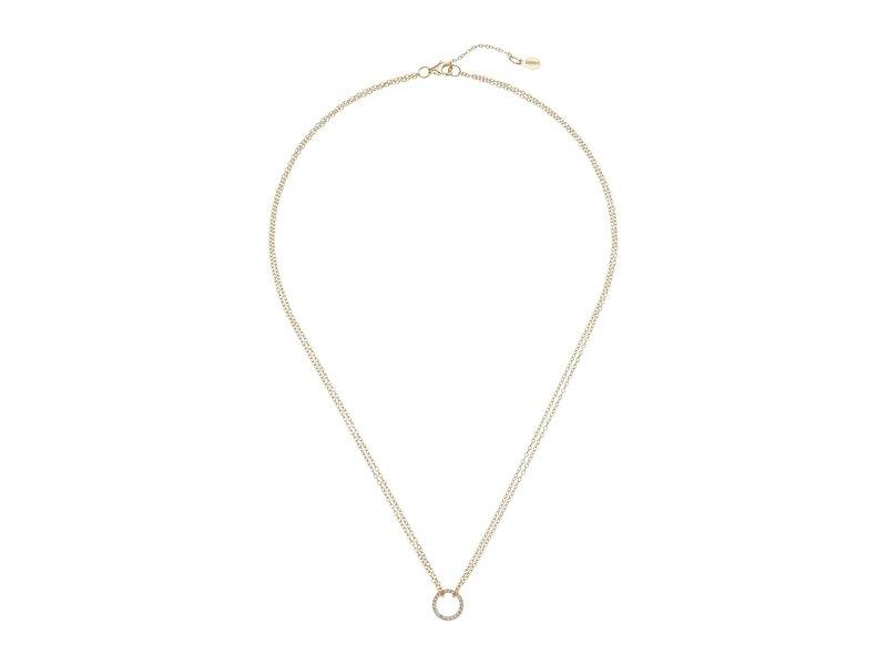 シャシ レディース ネックレス・チョーカー・ペンダントトップ アクセサリー Circle Pave Pendant Necklace Gold/Vermeil