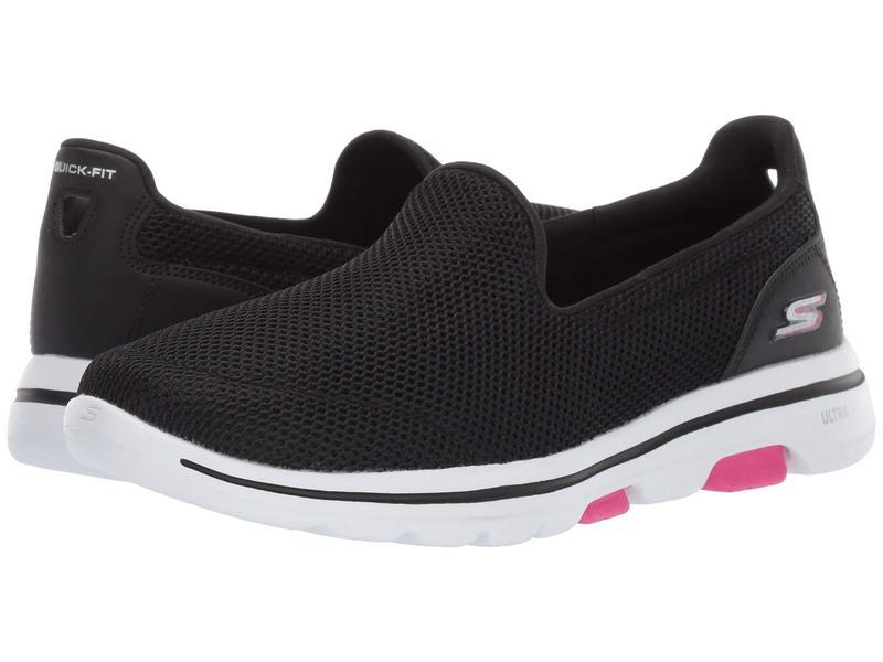 スケッチャーズ レディース スニーカー シューズ Go Walk 5 - 15901 Black/Hot Pink