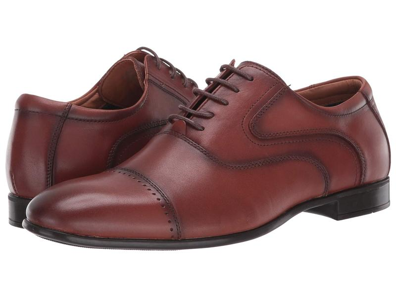 スティーブ マデン メンズ オックスフォード シューズ Lowkey Oxford Cognac Leather