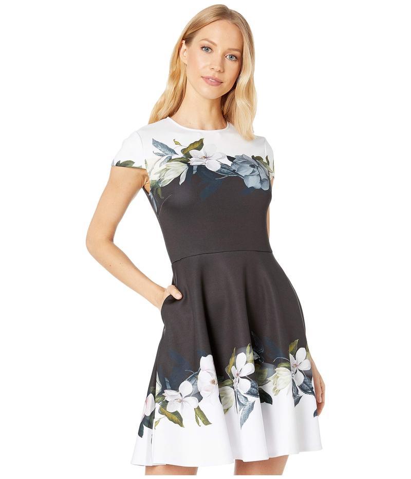 テッドベーカー レディース ワンピース トップス Louva Opal Printed Skater Dress Black
