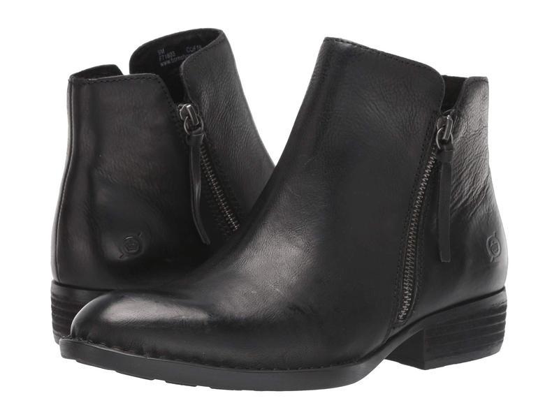 ボーン レディース ブーツ・レインブーツ シューズ Olio Black Full Grain Leather