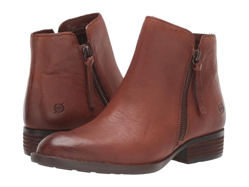 ボーン レディース ブーツ・レインブーツ シューズ Olio Brown Full Grain Leather