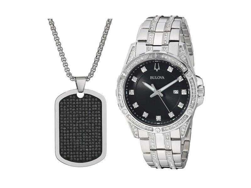ブロバ メンズ 腕時計 アクセサリー Box Set - 96K104 Stainless Steel