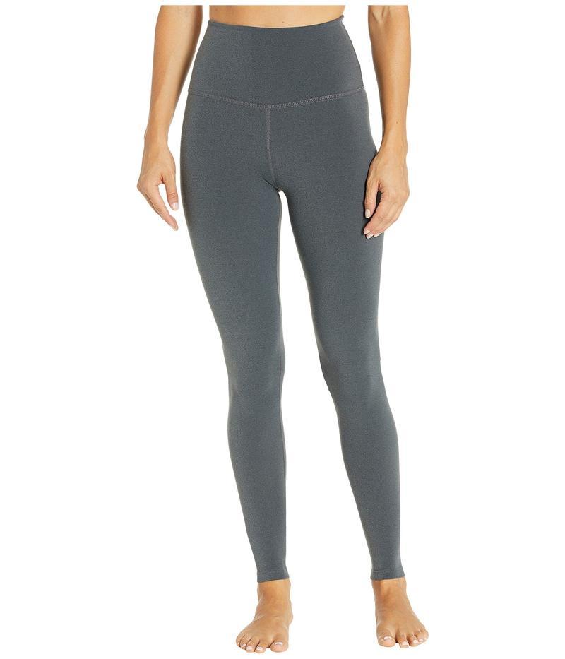 ビヨンドヨガ レディース カジュアルパンツ ボトムス Plush High-Waisted Long Leggings Charcoal Heather Gray
