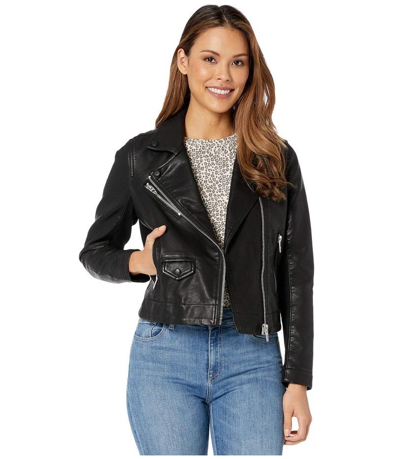 ブランクニューヨーク レディース コート アウター Faux Leather Moto Jacket Black