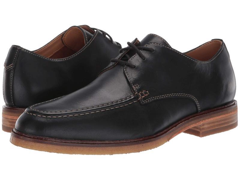 クラークス メンズ オックスフォード シューズ Clarkdale Apron Black Leather