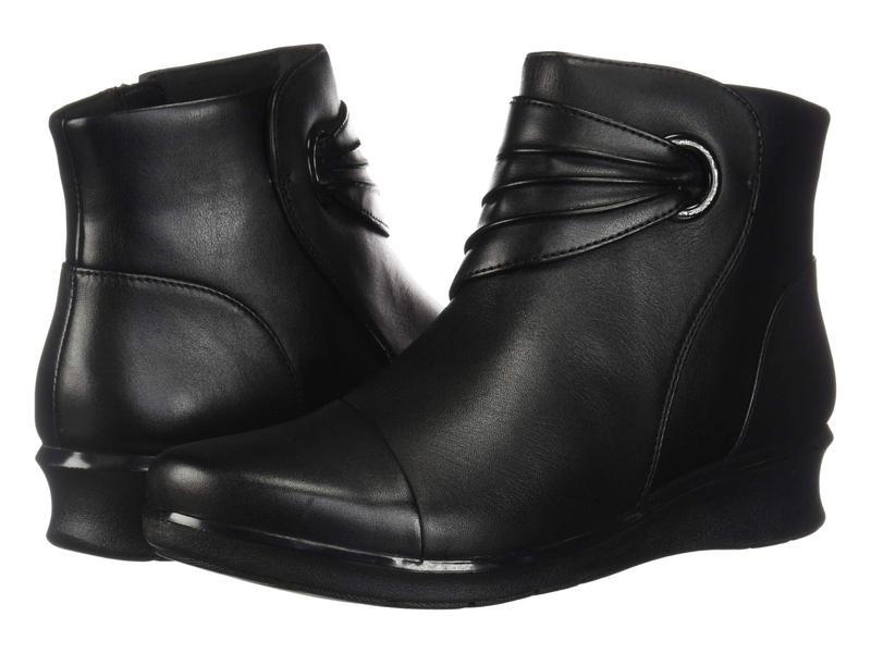 クラークス レディース ブーツ・レインブーツ シューズ Hope Twirl Black Leather