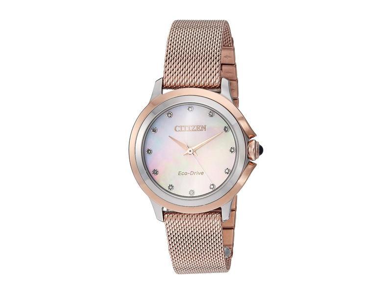 シチズンウォッチ レディース 腕時計 アクセサリー EM0796-75D Citizen Ceci Pink Gold-Tone