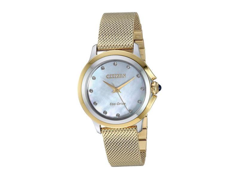 シチズンウォッチ レディース 腕時計 アクセサリー EM0794-54D Citizen Ceci Gold-Tone