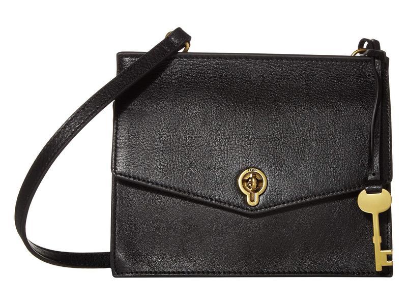 フォッシル レディース ハンドバッグ バッグ Stevie Crossbody Handbag Black