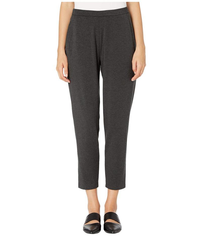 エイリーンフィッシャー レディース カジュアルパンツ ボトムス Cozy Tencel Stretch Jersey Slim Ankle Slouchy Pants Charcoal