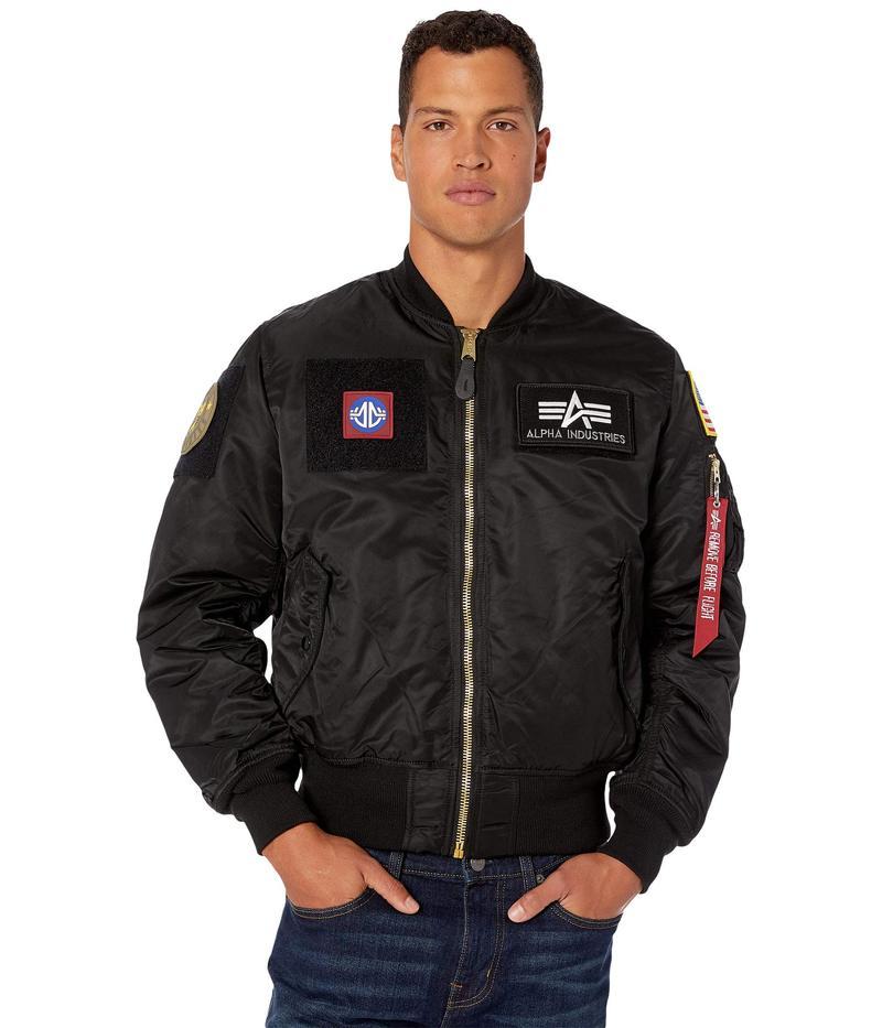 アルファインダストリーズ メンズ コート アウター MA-1 Flex Flight Jacket Core Fit Black