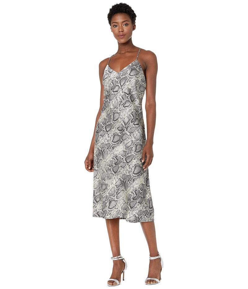 アメリカンローズ レディース ワンピース トップス Nell Spaghetti Strap Snake Print Dress Silver/Black
