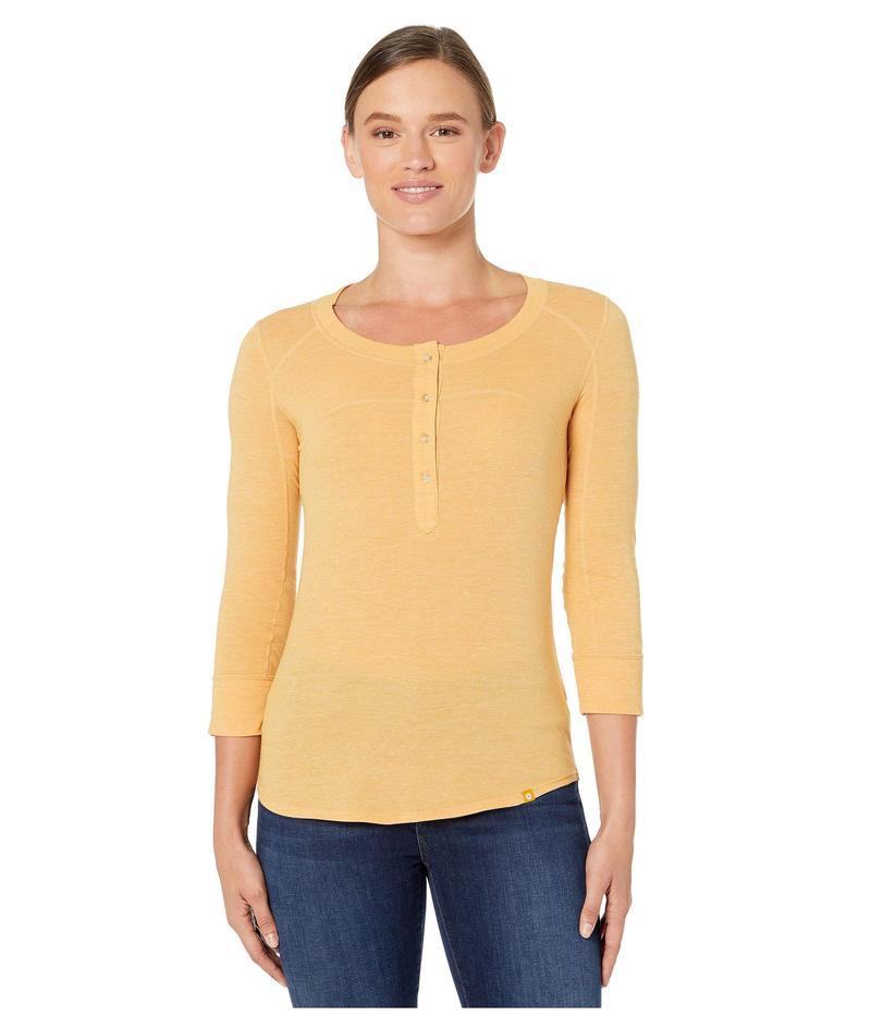 マーモット レディース シャツ トップス Kerr 3/4 Sleeve Shirt Yellow Gold