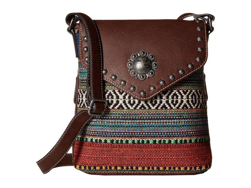 エムエフウエスターン レディース ハンドバッグ バッグ Savannah Conceal & Carry Crossbody Serape/Brown