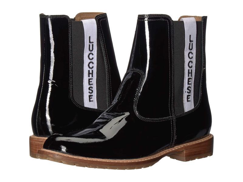 ルチーズ レディース ブーツ・レインブーツ シューズ All-Weather Waterproof Garden Boot Black Patent