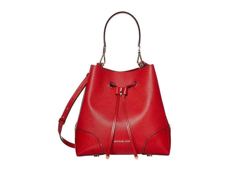マイケルコース レディース ハンドバッグ バッグ Mercer Gallery Medium Convertible Bucket Shoulder Bright Red