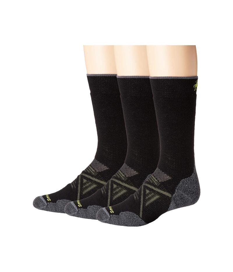 スマートウール メンズ 靴下 アンダーウェア PhD Outdoor Medium Crew 3-Pack Black