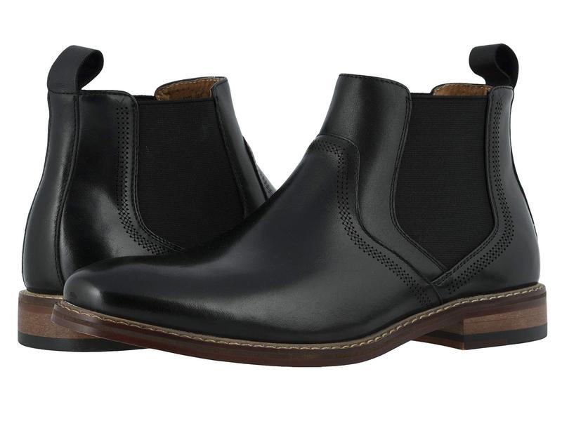 ステイシーアダムス メンズ ブーツ・レインブーツ シューズ Altair Plain Toe Chelsea Boot Black