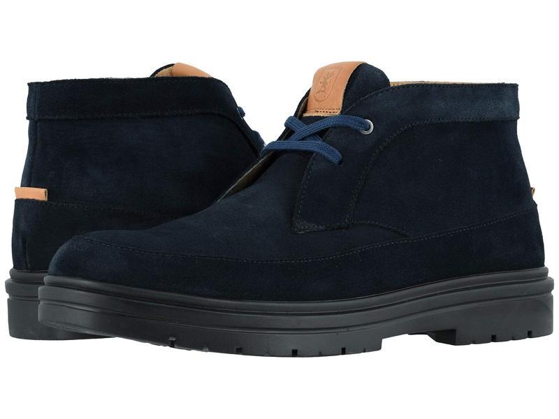 ステイシーアダムス メンズ ブーツ・レインブーツ シューズ Amherst Moc Toe Chukka Boot Navy Suede