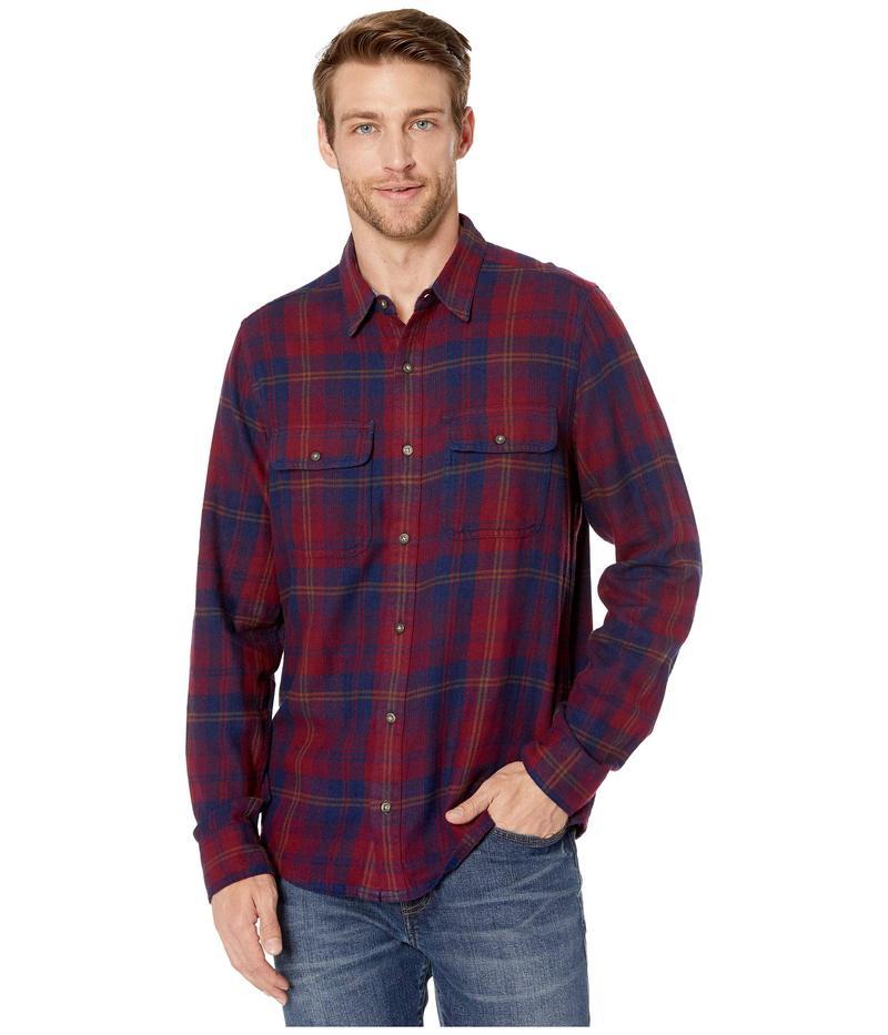 ドード アンドコー メンズ シャツ トップス Indigo Flannel Slim Long Sleeve Shirt Port