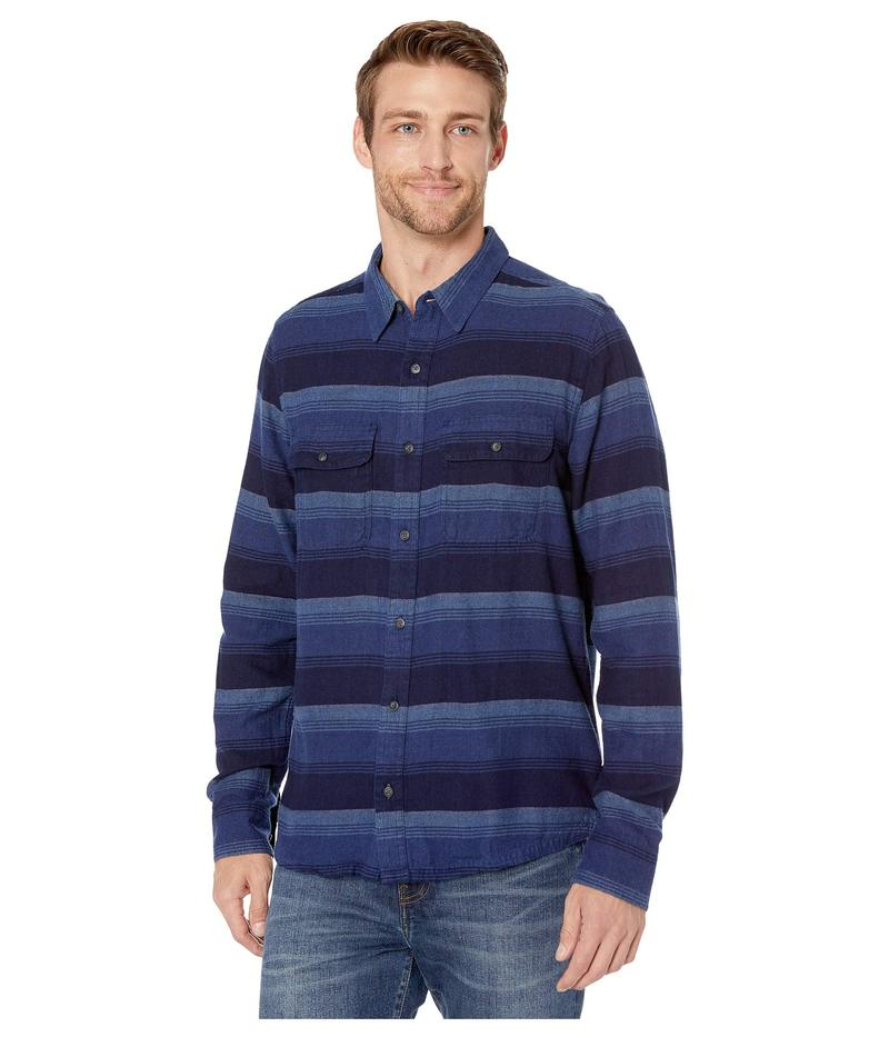 ドード アンドコー メンズ シャツ トップス Indigo Flannel Slim Long Sleeve Shirt Medium Indigo H
