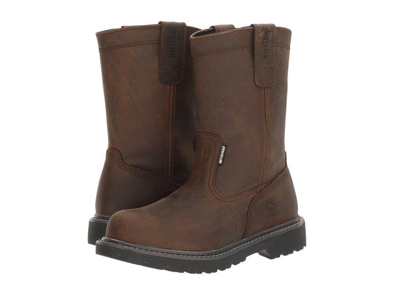 ウルヴァリン レディース ブーツ・レインブーツ シューズ Floorhand 10 Steel Toe Dark Brown