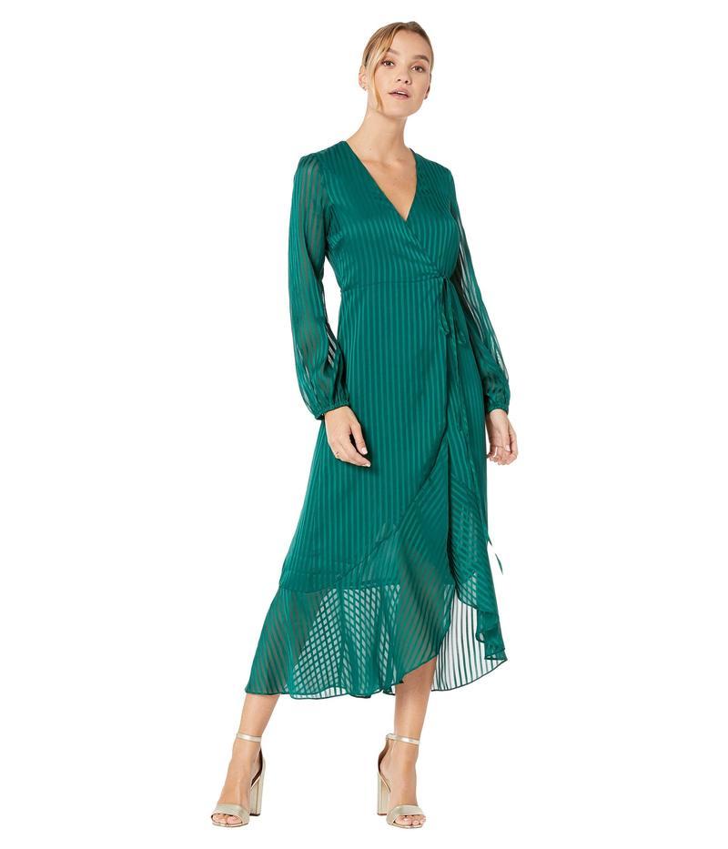 バードット レディース ワンピース トップス Mirela Wrap Dress Dark Green