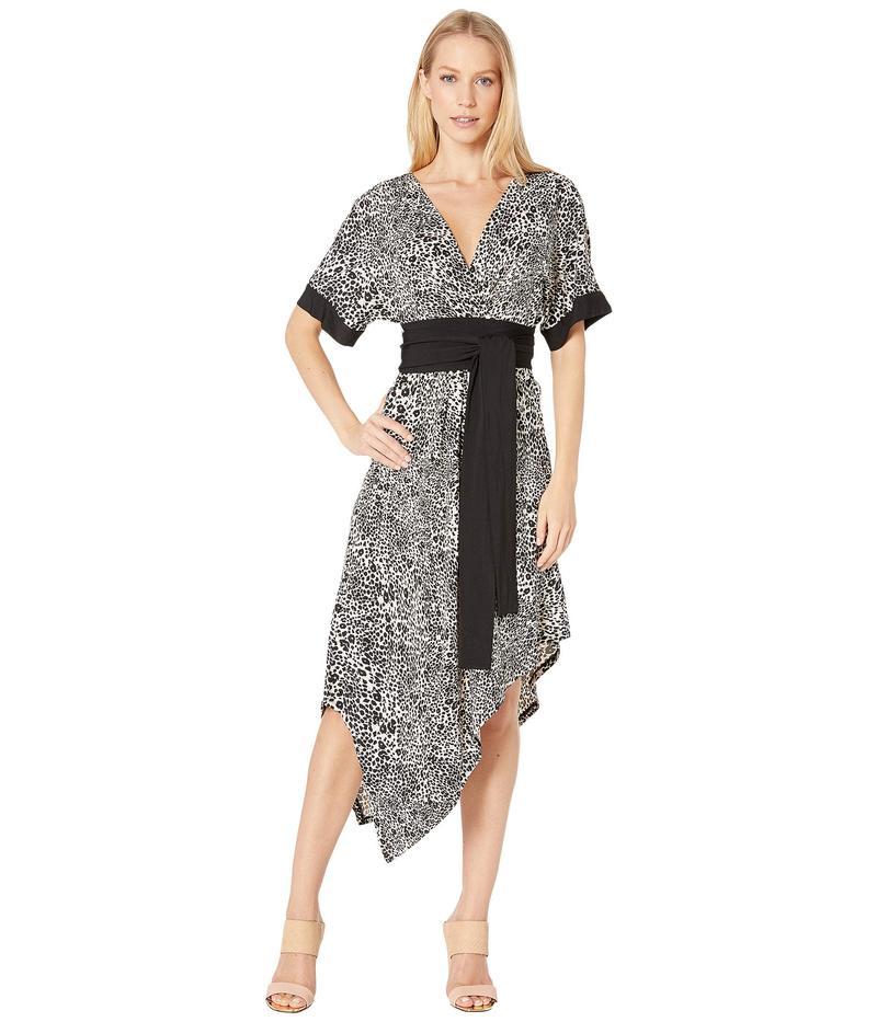 ビーシービージーマックスアズリア レディース ワンピース トップス Short Sleeve Printed Matte Jersey Wrap Dress Optic White Swi