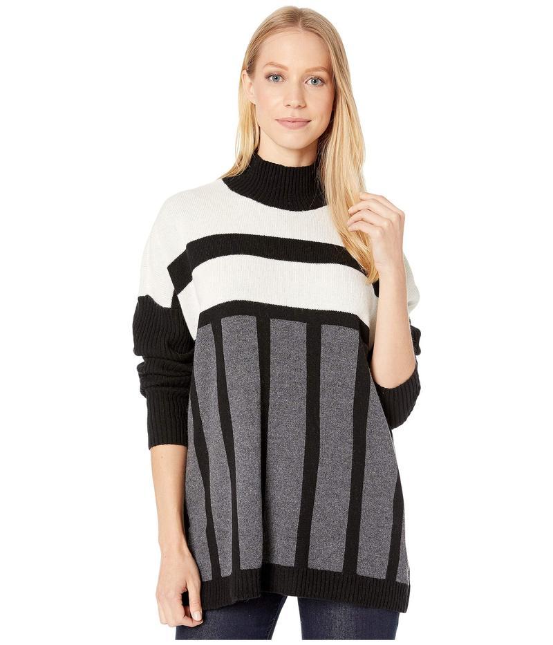 ビーシービージーマックスアズリア レディース ニット・セーター アウター Color Block Sweater Black Combo