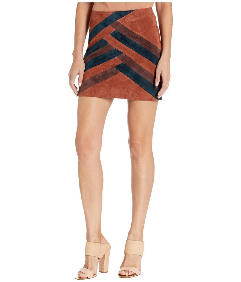 ブランクニューヨーク レディース スカート ボトムス Color Block Suede Mini Skirt Walk The Line
