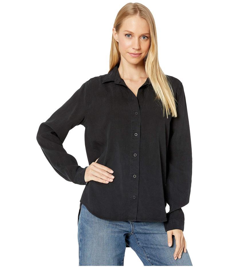 ベラダール レディース シャツ トップス Classic Button Down Shirt in Tencel Vintage Black