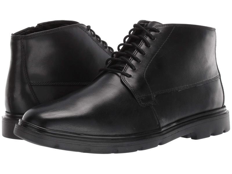 ボストニアン メンズ ブーツ・レインブーツ シューズ Luglite Mid Black Leather