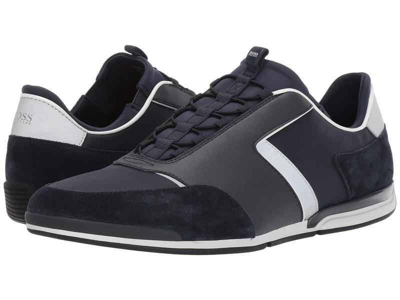 ヒューゴボス メンズ スニーカー シューズ Saturn Low Profile Sneakers Dark Blue