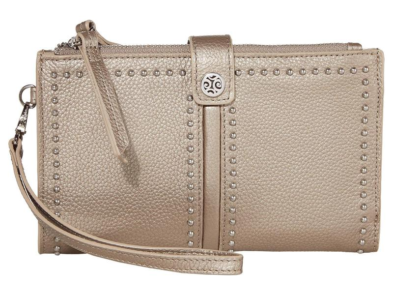 ブライトン レディース 財布 アクセサリー Pretty Tough Double Zip Wallet Zinc Pearl